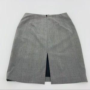 Elie Tahari Gray Plaid Pencil Skirt